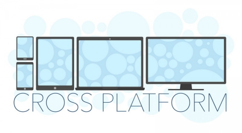 Vector illustration of cross platform concept